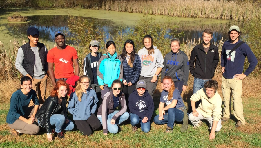 Biodiversity Issues and Field Methods class at Prairie Ridge Ecostation for Environmental Learning